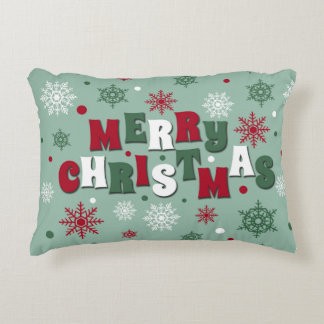 Merry Christmas Accent Pillow