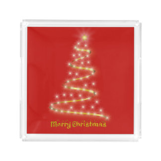 Merry Christmas Acrylic Tray