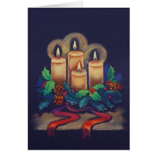 Merry Christmas - Advent Wreath for you! Card