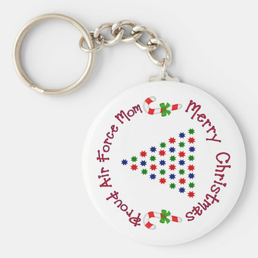 Merry Christmas (Air Force Mom) Keychain