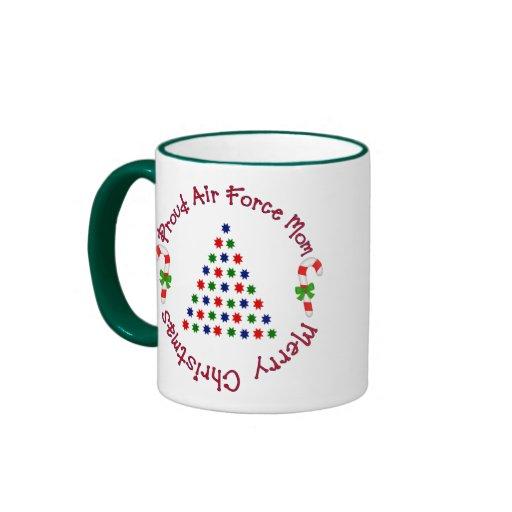 Merry Christmas (Air Force Mom) Coffee Mugs
