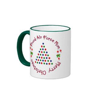 Merry Christmas (Air Force Mom) Ringer Coffee Mug