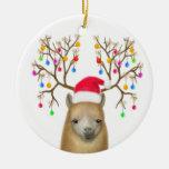 Merry Christmas Alpaca Ornament