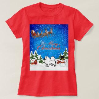 Merry Christmas American Eskimo Dog T-Shirt