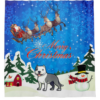 Merry Christmas American Staffordshire Terrier