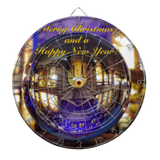 Merry Christmas and a Happy New Year Dartboard