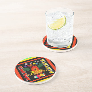Merry Christmas and a Happy New Year Drink Coaster