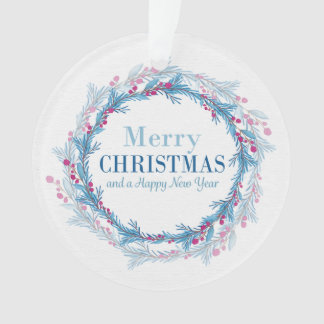 'Merry Christmas and a Happy New Year' Ornament