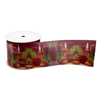 Merry Christmas and a Happy New Year Satin Ribbon