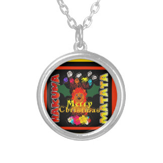Merry Christmas and a Happy New Year Silver Plated Necklace