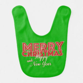 Merry Christmas and Happy New Year Bib