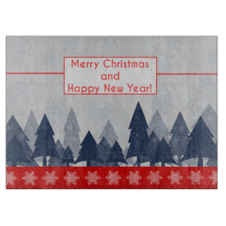 Merry Christmas and Happy New Year Cutting Board