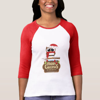 Merry Christmas And Happy New Year Owl T-Shirt