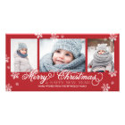 Merry Christmas and Happy New Year Snowflakes Card