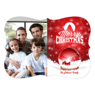 Merry Christmas and Happy New Year typography Card