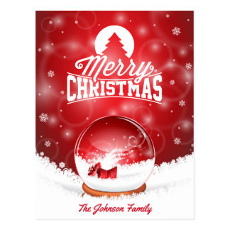 Merry Christmas and Happy New Year typography Postcard