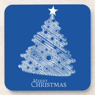 merry christmas and happy newyear drink coaster