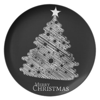 merry christmas and happy newyear party plate