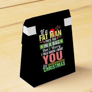 Merry Christmas and Santa Claus Favor Box