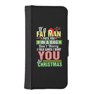 Merry Christmas and Santa Claus iPhone SE/5/5s Wallet Case