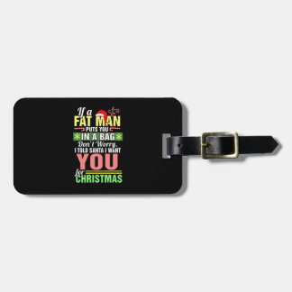 Merry Christmas and Santa Claus Luggage Tag