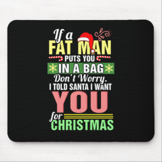 Merry Christmas and Santa Claus Mouse Pad