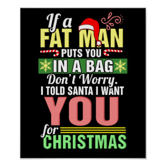 Merry Christmas and Santa Claus Poster