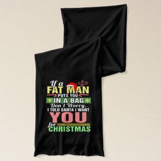 Merry Christmas and Santa Claus Scarf