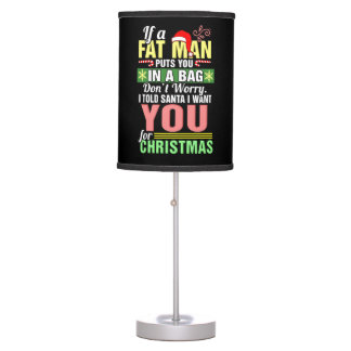 Merry Christmas and Santa Claus Table Lamp