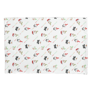 Merry Christmas and Snowman Pillowcases