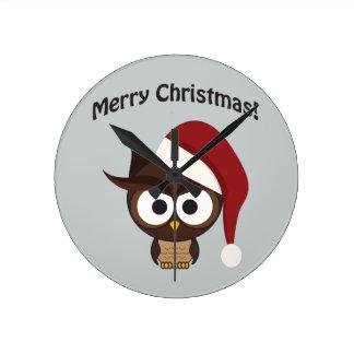 Merry Christmas Angry Owl Wallclocks