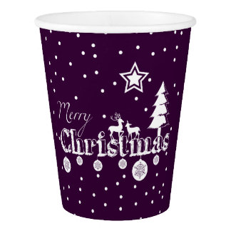 Merry Christmas (any colour) Paper Cup