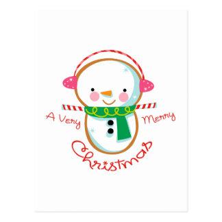 MERRY CHRISTMAS APPLIQUE POST CARD