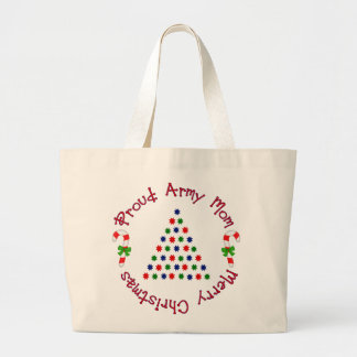 Merry Christmas (Army Mom) Canvas Bags