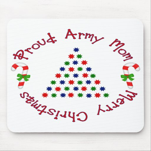 Merry Christmas (Army Mom) Mouse Mats