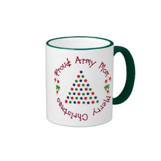 Merry Christmas (Army Mom) Ringer Coffee Mug