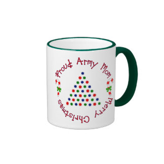Merry Christmas (Army Mom) Ringer Mug