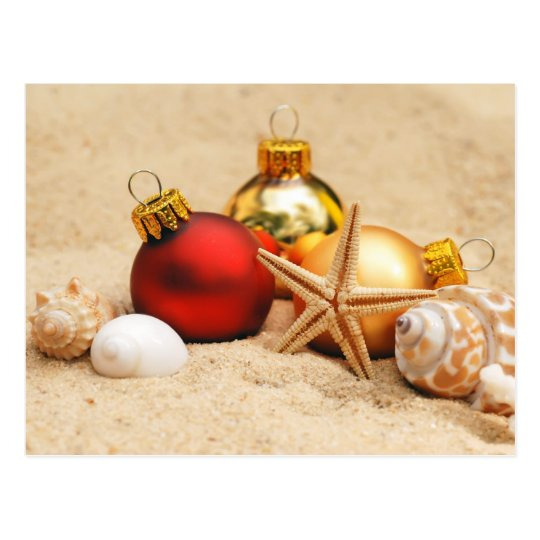 Merry Christmas At the Beach Postcard