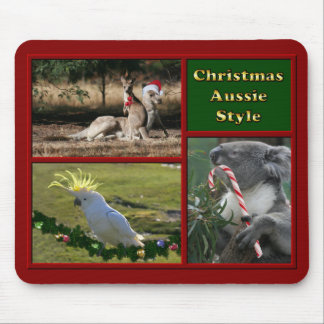 Merry Christmas Aussie Animals Mouse Pad