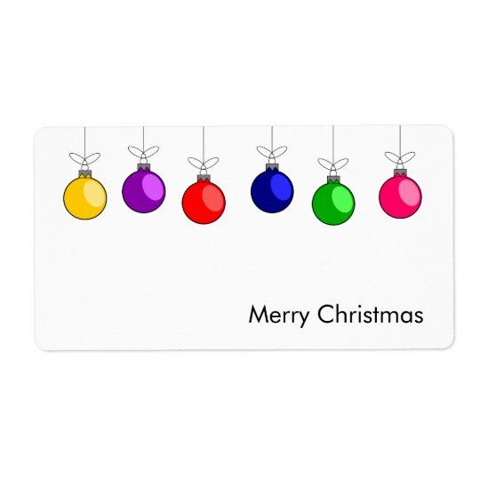Merry Christmas Avery Label
