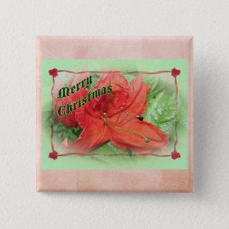 Merry Christmas Azalea 2 Inch Square Button