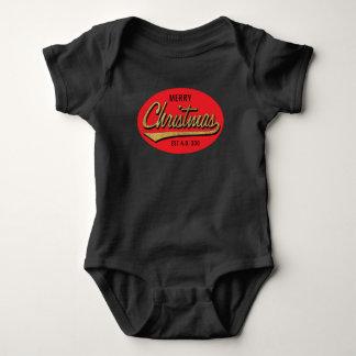 "Merry Christmas Baby Black Bodysuit ""Est A.D. 336"""