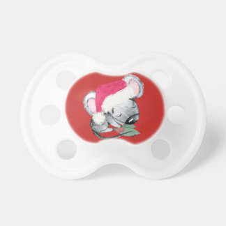 Merry Christmas Baby Mouse Pacifier