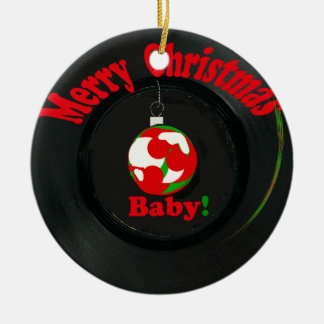 Merry Christmas Baby! Record Ornament