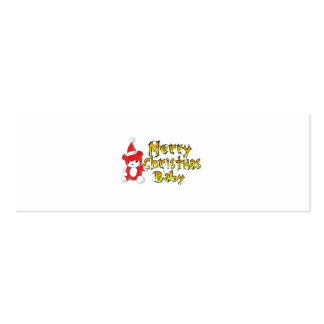 Merry Christmas Baby Red Teddy Bear Watch Keychain Business Card Template