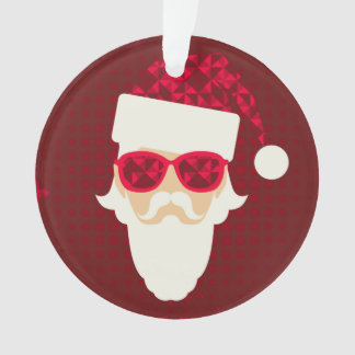Merry Christmas Background With Santa Hipster