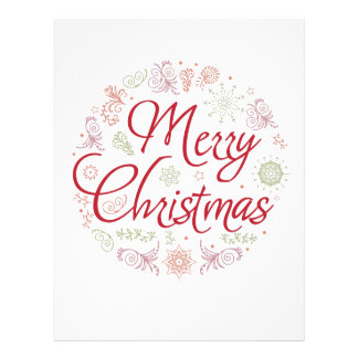 Merry Christmas ball Letterhead