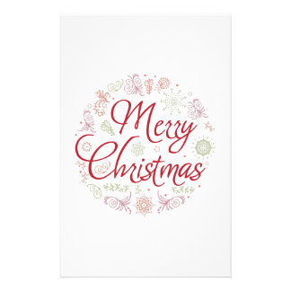 Merry Christmas ball Personalized Stationery