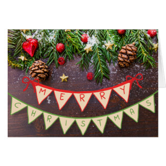 Merry Christmas Banner Card