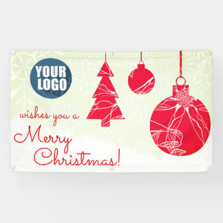 Merry Christmas Banner for Business
